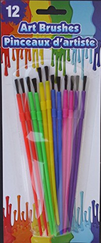 ART PAINT BRUSHES ALL PURPOSE for Children 12 brush - International First Mail Class Tracking