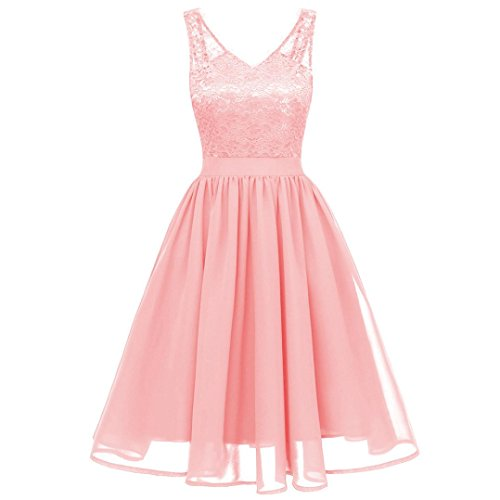 Discount Veils Wedding (HITRAS Women Dress! Fashion Women Vintage Princess Floral Lace Party Swing Dress (M, Pink 02))