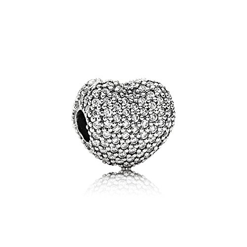(Pandora Sterling Silver Open My Heart Clip Charm 791427CZ)