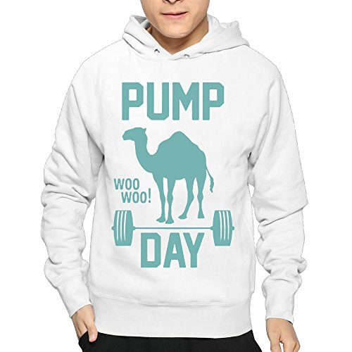 Men's Pump Day Gym Hoodie Sweatshirt Funny Pullover
