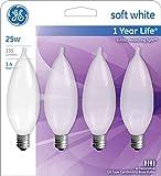 GE Bent Tip Decorative Light Bulbs (25 Watt), 155
