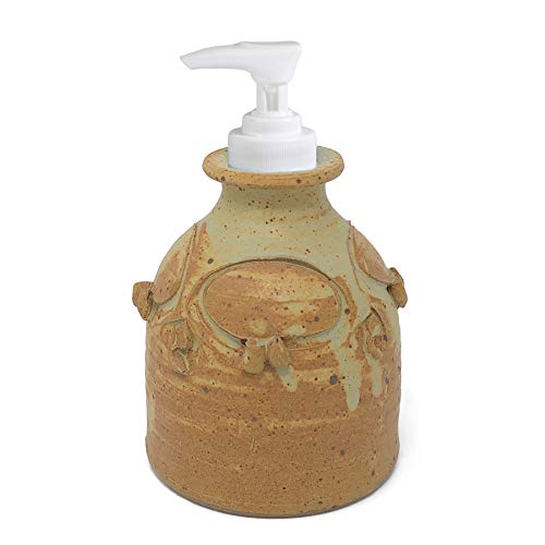 Anthony Stoneware Soap Lotion Dispenser, Butternut -