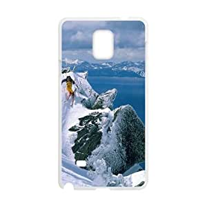 Skiing Samsung Galaxy Note 4 Cell Phone Case White Phone cover W9311973