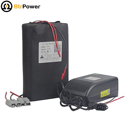 BtrPower 36V 17Ah Ebike Battery Lithium Li-ion Battery Pack for 750W Electric Bicycle Scooter with 5A Charger BMS