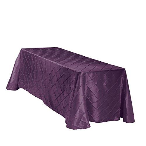 LinenTablecloth Rectangular Pintuck Tablecloth, 90 x 132, Eg
