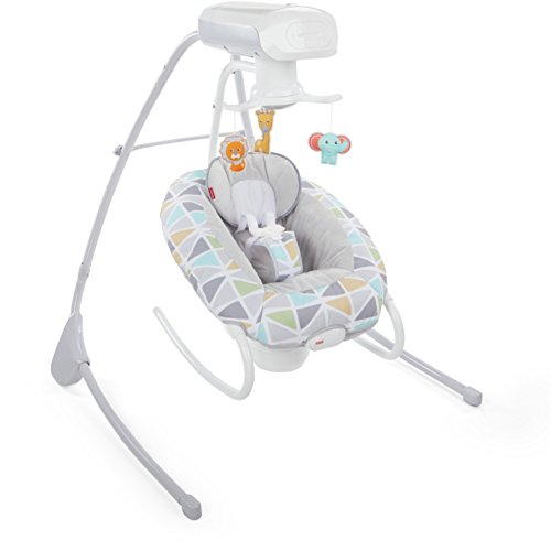 (Fisher-Price 2-in-1 Deluxe Cradle 'n Swing, Multi)
