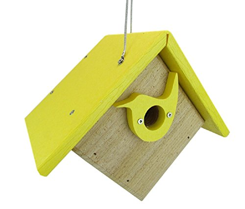 Nature Products USA Classic Yellow Cedar & Recycled Poly Lumber Wren Birdhouse