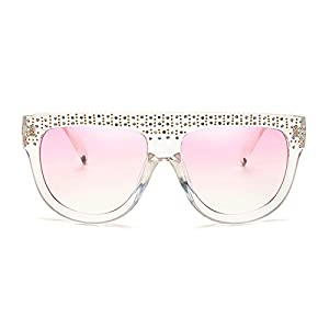 Slocyclub Shades Flat Top Square Aviator Frame Women Sunglasses