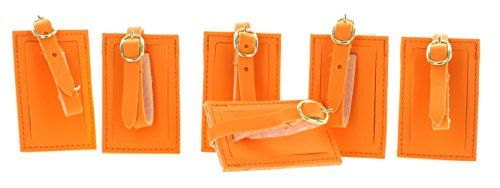 neon-orange-luggage-tags-with-strap-lot-of-6-travel-id-suitcase-rite-aid