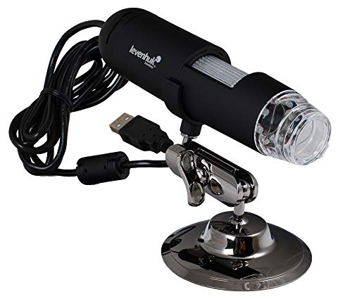 Levenhuk DTX 50 Portable Digital USB Microscope (20-400x) with Special Software for Measuring Linear Sizes, Areas, Angles and Radiuses of Studied Samples