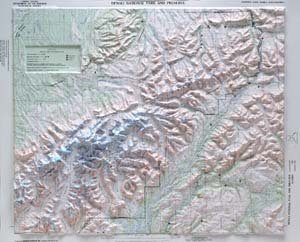 21 Map Relief Raised - Hubbard Scientific Raised Relief Map 401 Denali National Park
