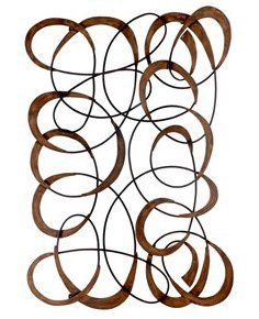 2 Lg Metal Wall Art Heavy Wrought Iron Quality Flower Sculptures