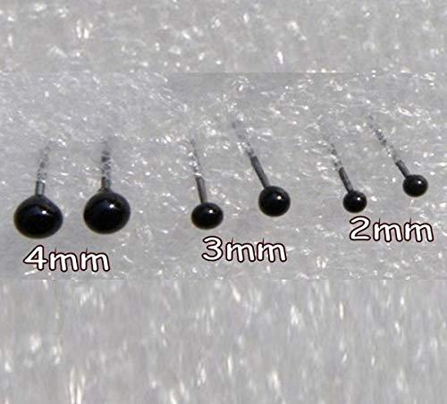 Felting Glass Needle - WellieSTR 150 Pair Glass Eyes kits 2/3/4mm Assortment For Needle Felting Bears Dolls Decoys Sewing