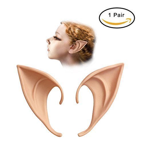 Letsparty Cosplay Elf Ears Soft Latex Pointed Ears Accessories of Fairy Pixie for Anime Cosplay Prosthetic Tips Ear, 1 Pair, 3.9\
