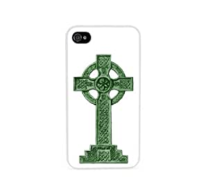 Green Celtic Cross White iPhone 4 Case - Fits iPhone 4 & iPhone 4S