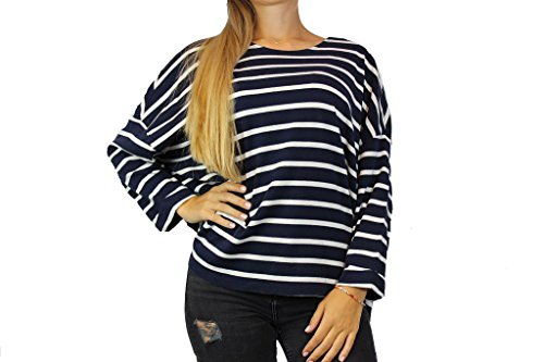 6fcb2c685a6e0f SET Damen Pullover Gr 38 Blau Weiß gestreift Damenmode Pulli Shirt  O88  vFGaF0b