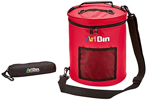 ArtBin Yarn Drum 12-inches round by 12-3/4-inches high, Raspberry