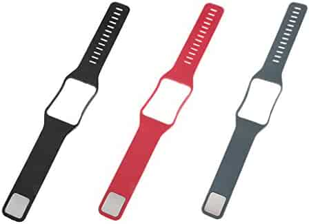 MonkeyJack 3Pack Soft Rubber Watch Wrist Band Bracelet Bangle Band with Frame Cover for Samsung Gear S SM-R750