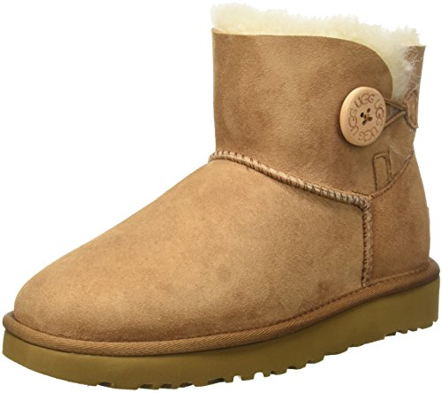 - UGG Women's Mini Bailey Button II Winter Boot, Chestnut, 9 B US