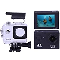 MeHuiLe MA67 Sport Action Camera 4K Ultra HD WiFi 2.0-inch 30 Meter Waterproof Camcorder DV 170 Degree 12MP HDMI