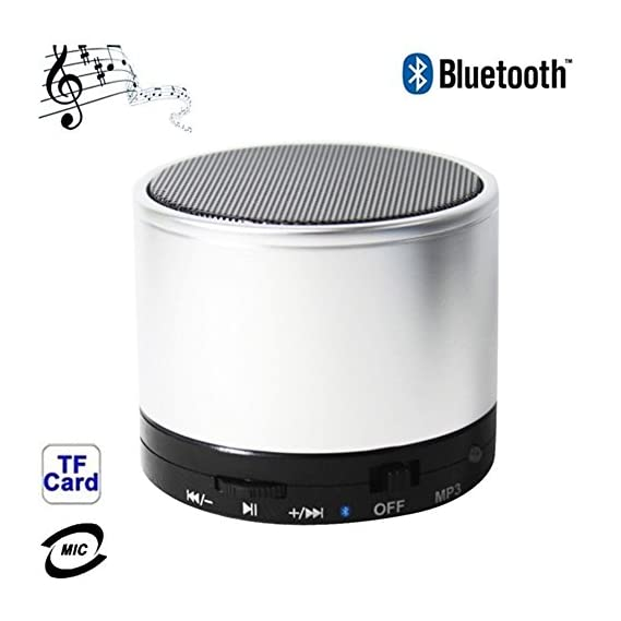 BHOHOO Music Bomb BT Portable Speaker With Memory Card Slot & in-built FM - White