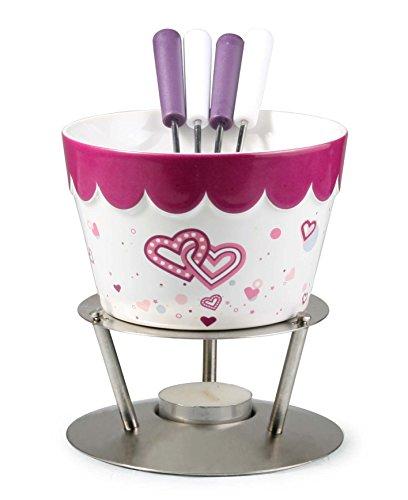 heart fondue set - 8