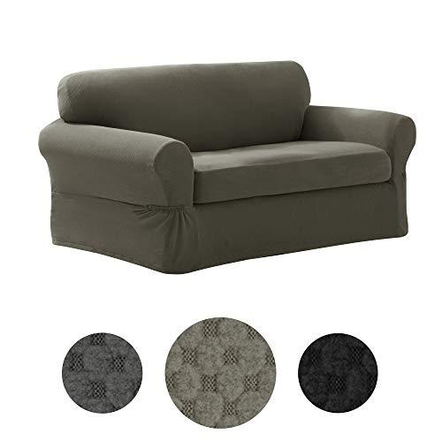 MAYTEX Pixel Ultra Soft Stretch 2 Piece Loveseat Furniture C
