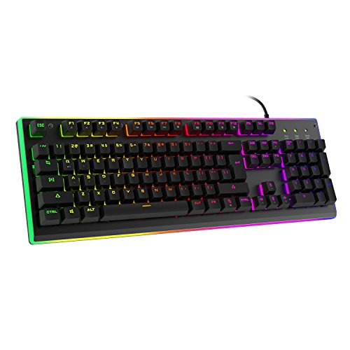 HAVIT LED Backlit Wired Membrane Gaming Keyboard,...
