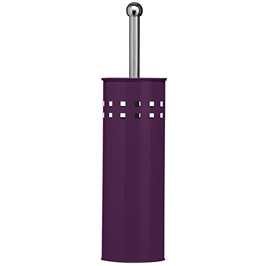 Purple Toilet Brush And Holder Square Design Bathroom Accessories