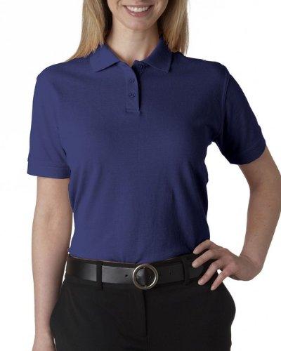 UltraClub Women's Classic Pique Polo Shirt, Royal, XX-Large