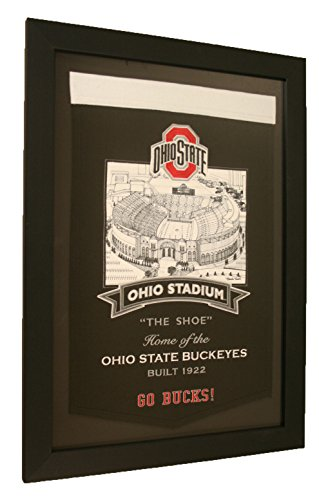 Ohio State Buckeyes NCAA Framed The Shoe Stadium Series Banner by NCAA