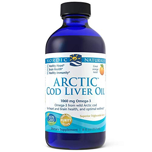 8 Ounce Liver - Nordic Naturals CLO Orange, 8-Ounce Bottle