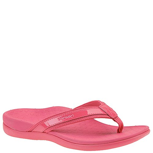 Womens Sandals Islander VIONIC IN44 Fucsia Leather 4qWdI