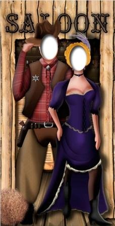 Wild West Stand In - Stand In Lifesize Cardboard Cutout / Standee / Standup by Starstills UK - Themed Cardboard Stand-Ins