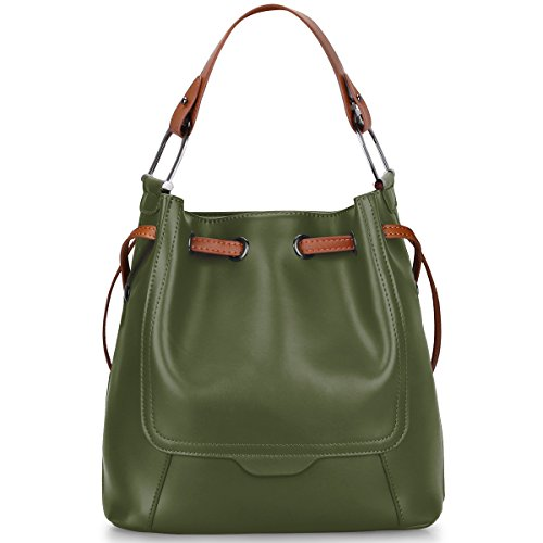 Green Leather Handbag - 1
