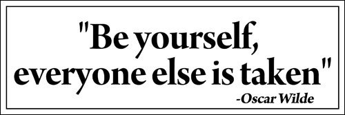 American Vinyl Oscar Wilde: Be Yourself Everyone Else is Taken Bumper Sticker (Quote Funny)