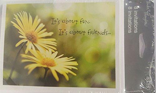Invitation Daisy (Tender Thoughts Daisy Invitations 8 Cards and Envelopes NIP)
