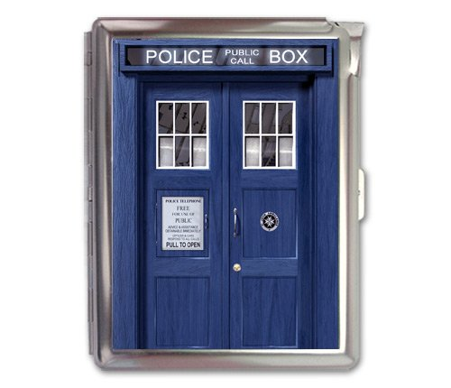 Tardis Police Box Retro Cigarette Case Lighter Wallet