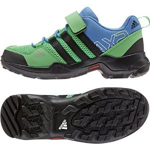UPC 888597904501, Adidas Outdoor 2015 Kid's AX2 CF Mountain Sport Shoes - B22853 (Semi Flash Lime/Black/Super Blue - 2.5) Size 2.5 Little Kid M