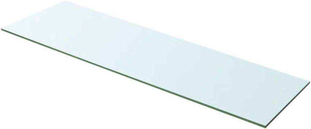 Mensola Galleggiante in Vetro Mensola in Vetro Trasparente Ripiano Lastra Scaffale da Bagno 20x12 cm Supporto da Parete Ripiano Singolo in Vetro