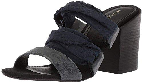 KELSI DAGGER BROOKLYN Women's Monaco Heeled Sandal, Black, 7.5 M US ()