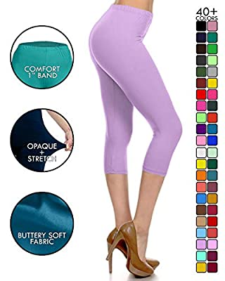 Leggings Depot High Waisted Capri Leggings - Soft & Slim - 37+ Colors