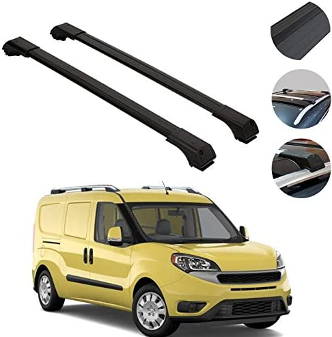 OMAC USA Roof Racks Lockable Carrier Cargo Racks Rail Aluminium Silver Set 2 Pcs for/ Ram Promaster City 2015-2020 with TUV Certified