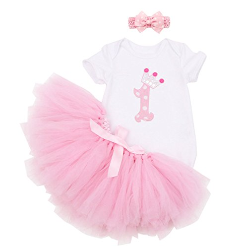 YTM Baby Girls' Tutu Romper 1st Birthday Tutu Outfit Dress (L, 1#) (Outfits With Dresses)