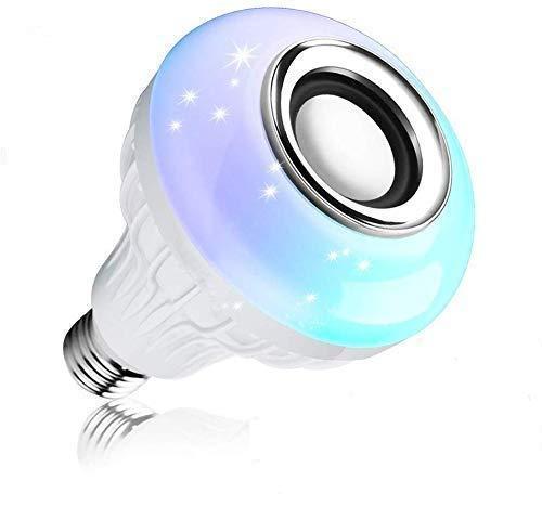 SapnaStarServices B22 LED Bulb Bluetooth Speaker for Home, Bedroom, Living Room, Party Decoration (Multicolor)