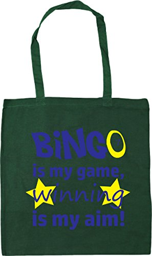 x38cm HippoWarehouse Winning Bingo is Aim my Bottle Shopping Green Game my litres 10 Gym Beach 42cm is Tote Bag FHBgqFnx6r