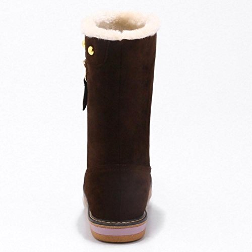 Boots Women Winter On Brown COOLCEPT Pull E4gpwqq