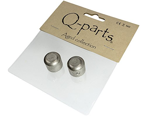 - Q-Parts Aged Collection '53 Telecaster Half Dome Knobs, Relic Nickel