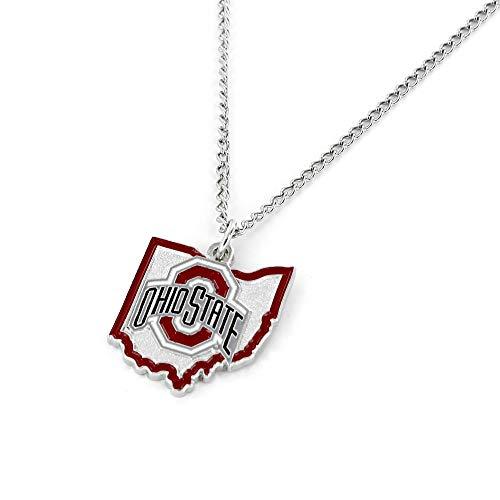 Aminco International NCAA Ohio State Buckeyes Home State Necklace from Aminco International