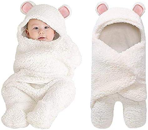 XMWEALTHY ベビーおくるみブランケット フラシ天 クマ おくるみ ラップ ベビー服 0-6ヶ月 新生児 女の子 男の子 理想的なベビーレジストリピンク